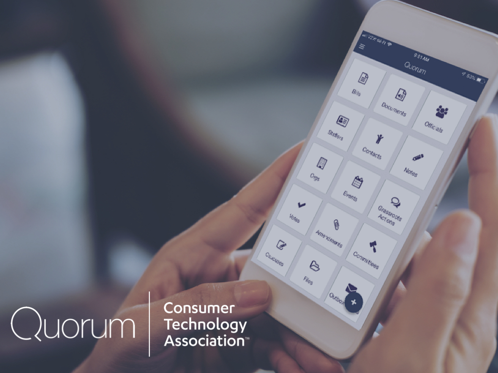 Consumer Technology Association Manages Lobbying Strategy with Quorum