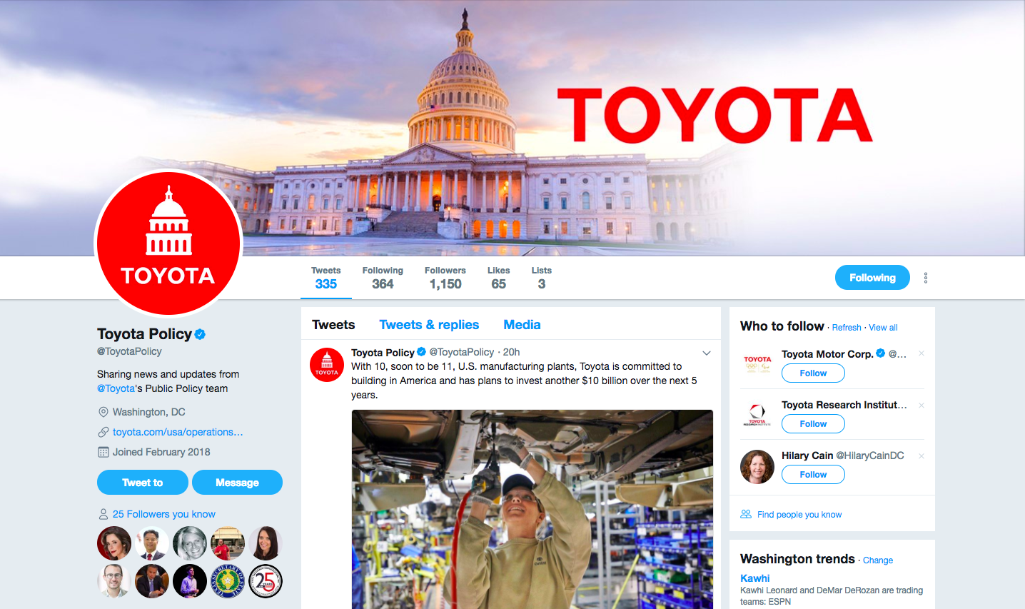 Advice from @ToyotaPolicy: Using Twitter for Government Affairs